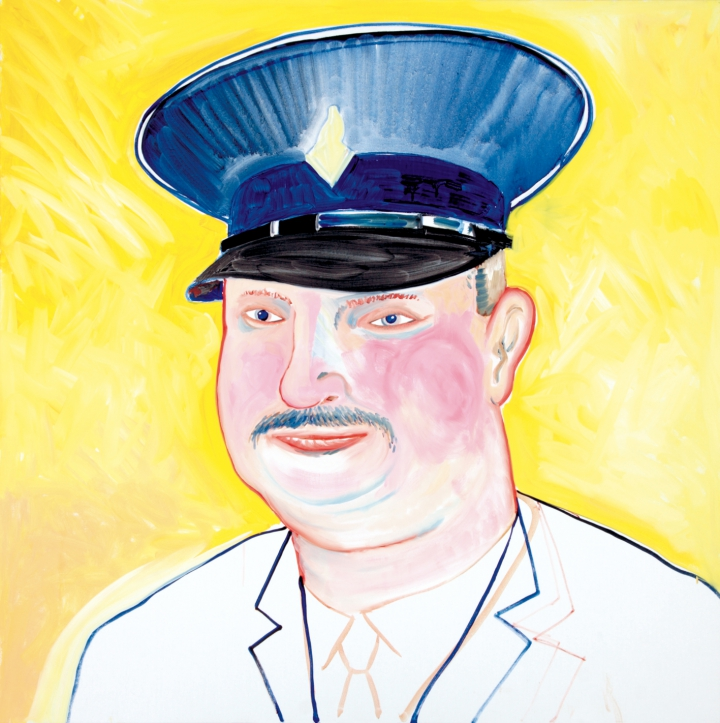 kamagurka -  portrait of an unknown policeman